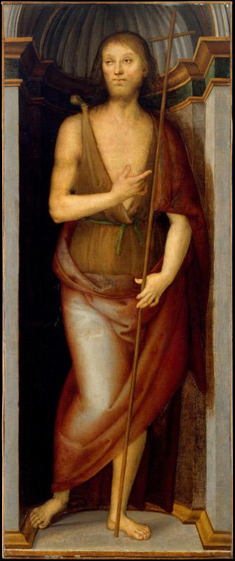 Perugino--Saint John the Baptist Saint Lucy