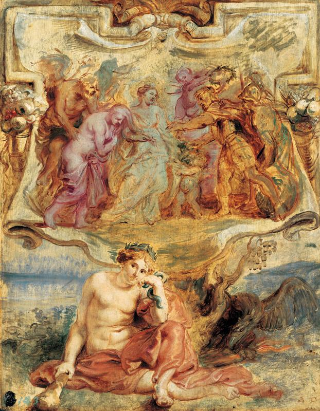 Peter Paul Rubens - Henry IV seizes the Opportunity to conclude Piece, 1628