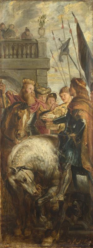 Peter Paul Rubens - Kings Clothar and Dagobert dispute with a Herald