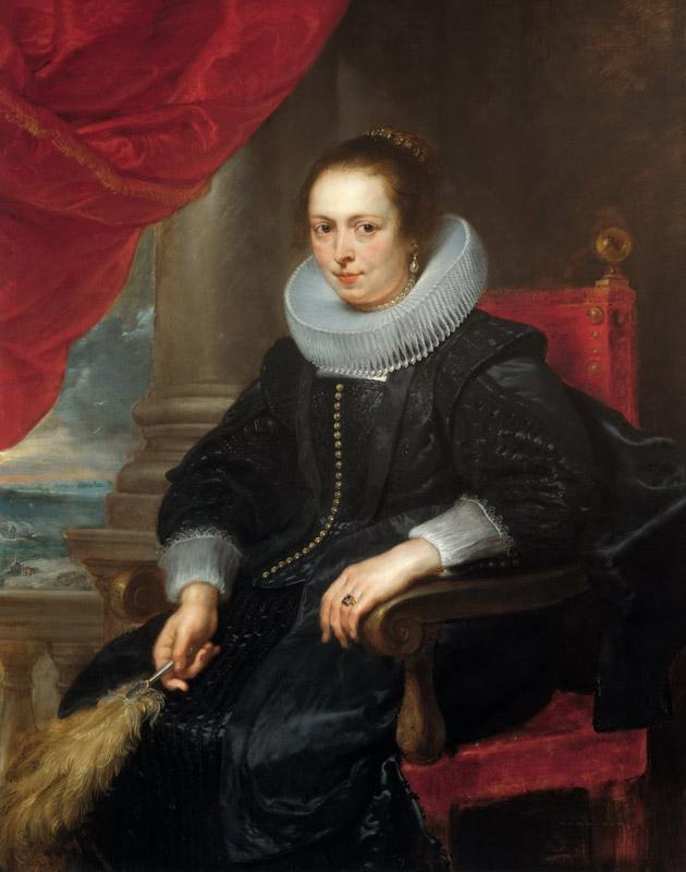 Peter Paul Rubens - Portrait of a Woman, possibly Clara Fourment