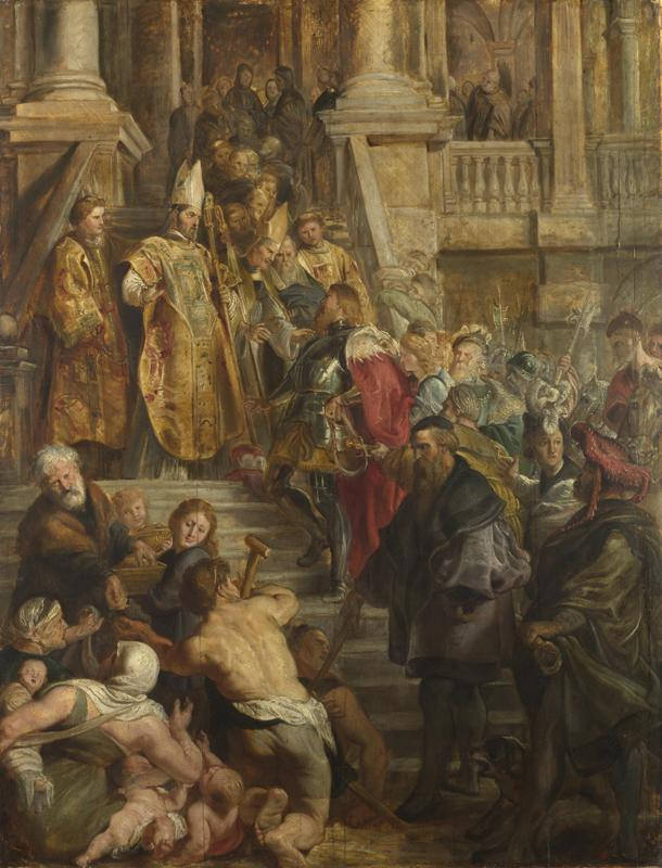 Peter Paul Rubens - Saint Bavo is received by Saints Amand and Floribert