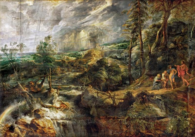 Peter Paul Rubens -- Landscape in a Thunderstorm