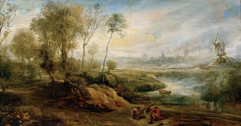 Peter Paul Rubens -- Landscape with Bird Catcher