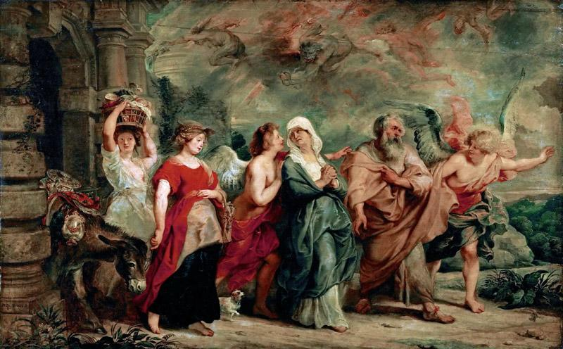 Peter Paul Rubens -- Lot and His Family Leaving Sodom