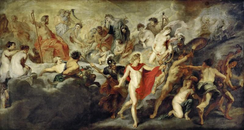 Peter Paul Rubens -- The Concert (or Council) of the Gods for the Reciprocal Marriages