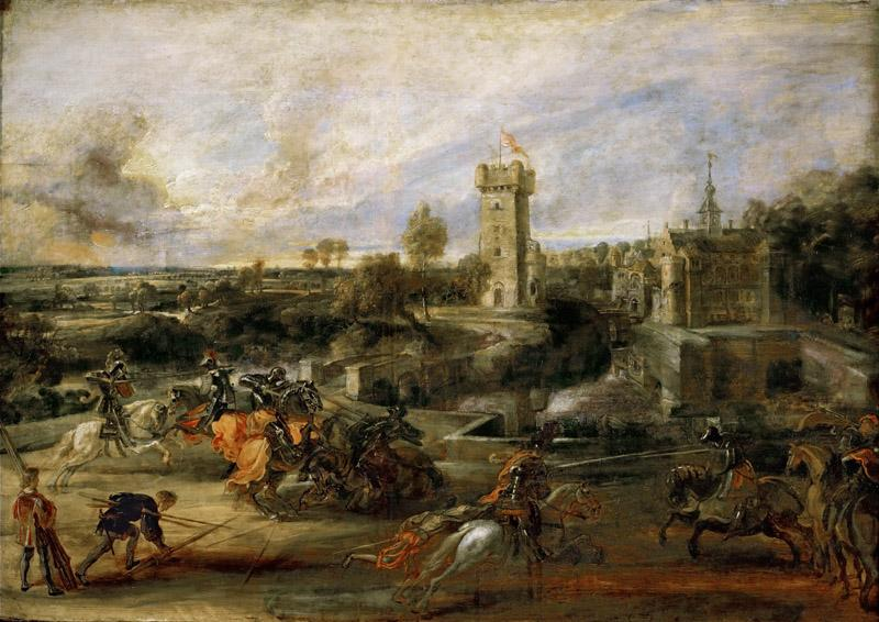 Peter Paul Rubens -- Tournament Near the Moat of the Castle of Steen