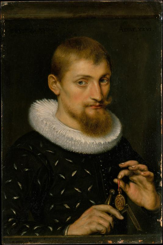 Peter Paul Rubens--Portrait of a Man, Possibly an Architect or Geographer