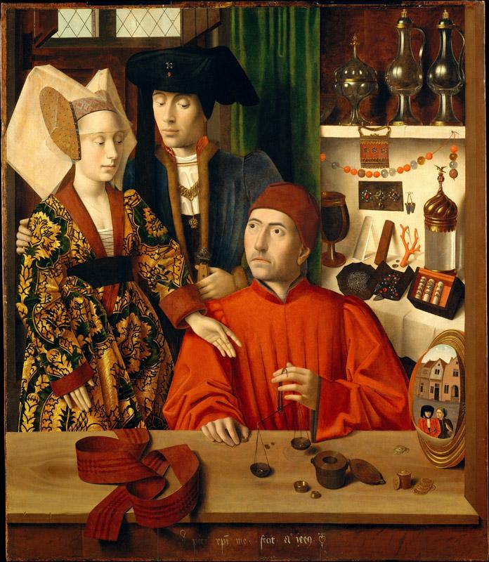 Petrus Christus--A Goldsmith in His Shop, Possibly Saint Eligius