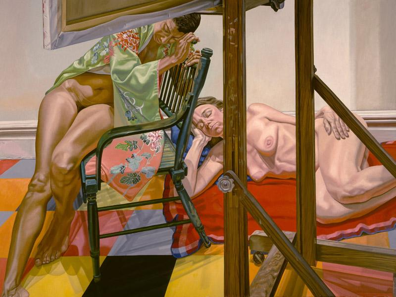 Philip Pearlstein - Two Models from the Other Side of the Easel, 1984