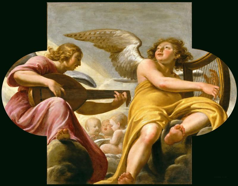 Philippe de Champaigne -- Two music-making Angels