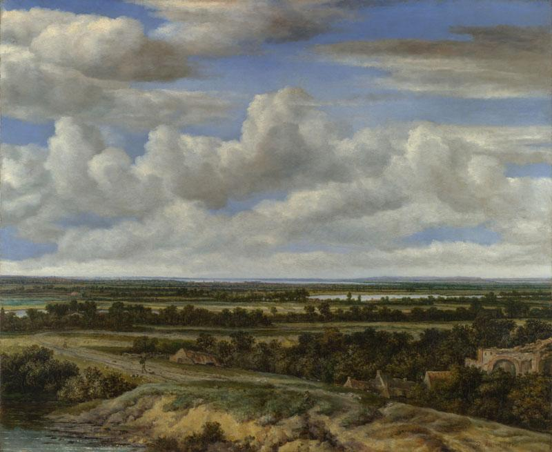 Philips Koninck - An Extensive Landscape with a Road by a River