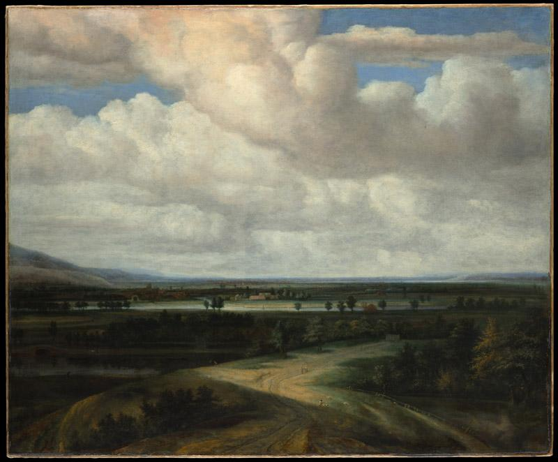Philips Koninck--A Panoramic Landscape with a Country Estate