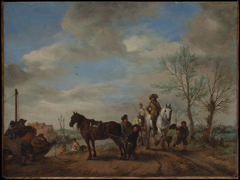 Philips Wouwerman--A Man and a Woman on Horseback
