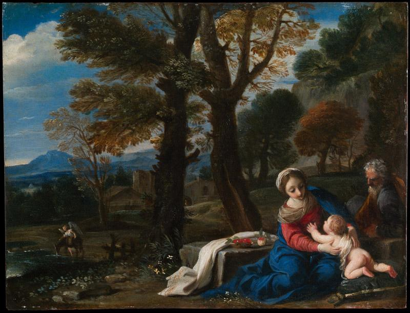 Pier Francesco Mola--The Rest on the Flight into Egypt
