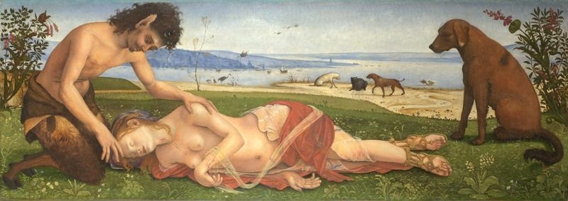 Piero di Cosimo - A Satyr mourning over a Nymph