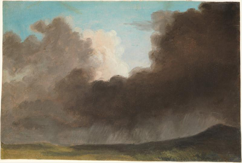 Pierre Henri de Valenciennes or Circle--Stormy Sky