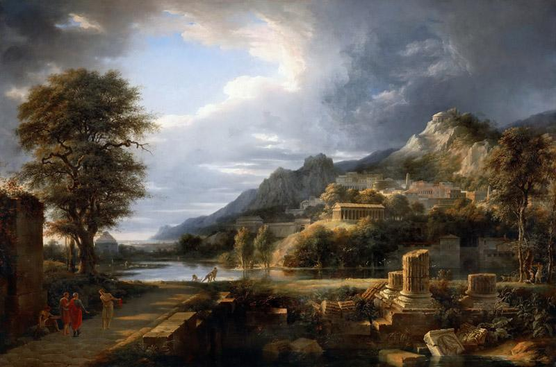Pierre Henri de Valenciennes-The ancient city of Agrigentum