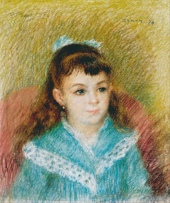 Pierre-Auguste Renoir (1841-1919)-Portrait of a Young Girl Elis