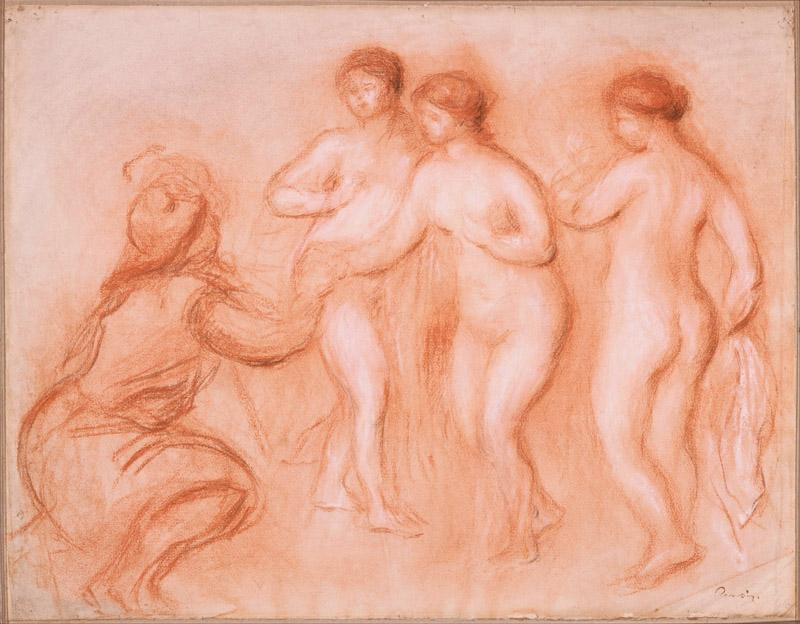 Pierre-Auguste Renoir (1841-1919)-The Judgement of Paris