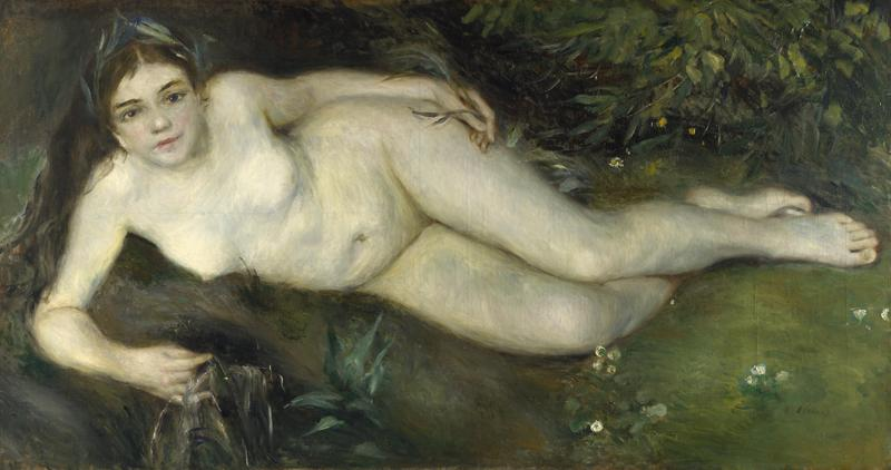 Pierre-Auguste Renoir - A Nymph by a Stream