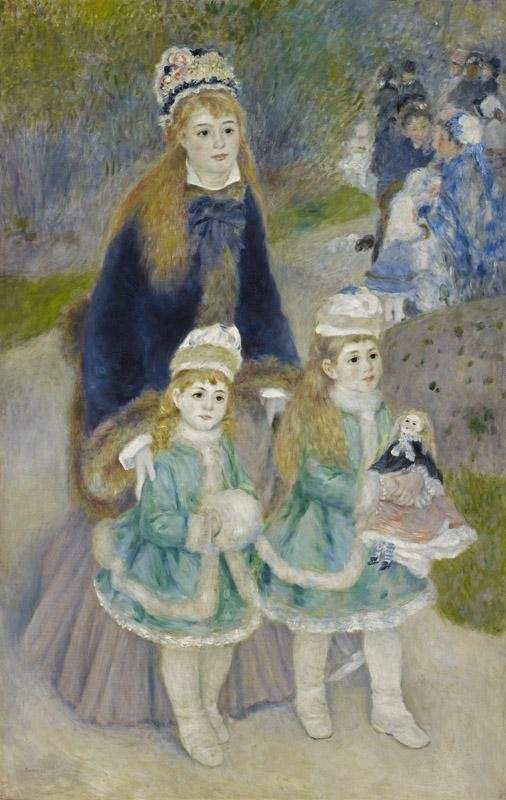 Pierre-Auguste Renoir - Mother and Children (La Promenade)
