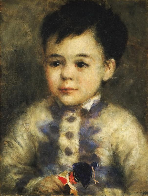Pierre-Auguste Renoir, French, 1841-1919 -- Boy with a Toy Soldier