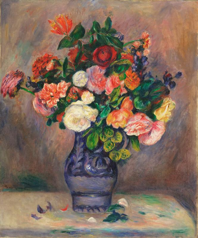 Pierre-Auguste Renoir, French, 1841-1919 -- Flowers in a Vase