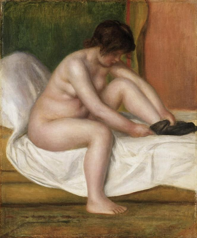 Pierre-Auguste Renoir, French, 1841-1919 -- Nude