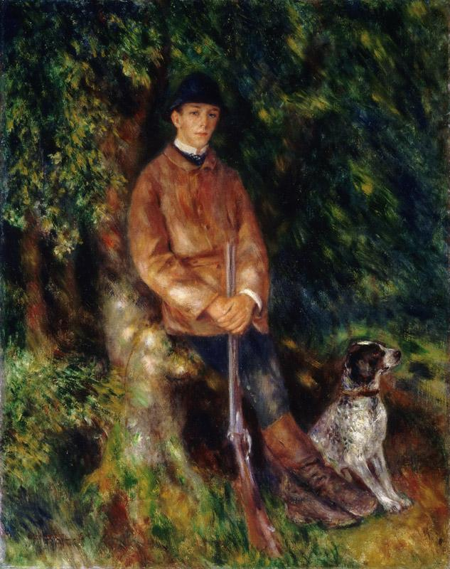 Pierre-Auguste Renoir, French, 1841-1919 -- Portrait of Alfred Berard with His Dog