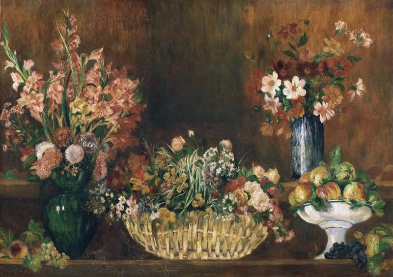 Pierre-Auguste Renoir, French, 1841-1919 -- Still Life with Flowers and Fruit
