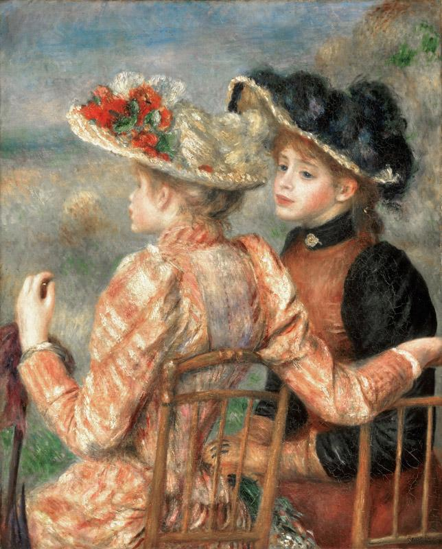 Pierre-Auguste Renoir, French, 1841-1919 -- Two Girls
