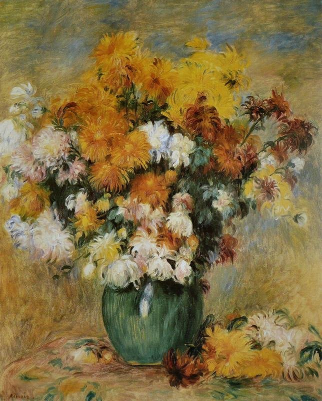 Pierre-Auguste Renoir - Bouquet de Chrysanthemes