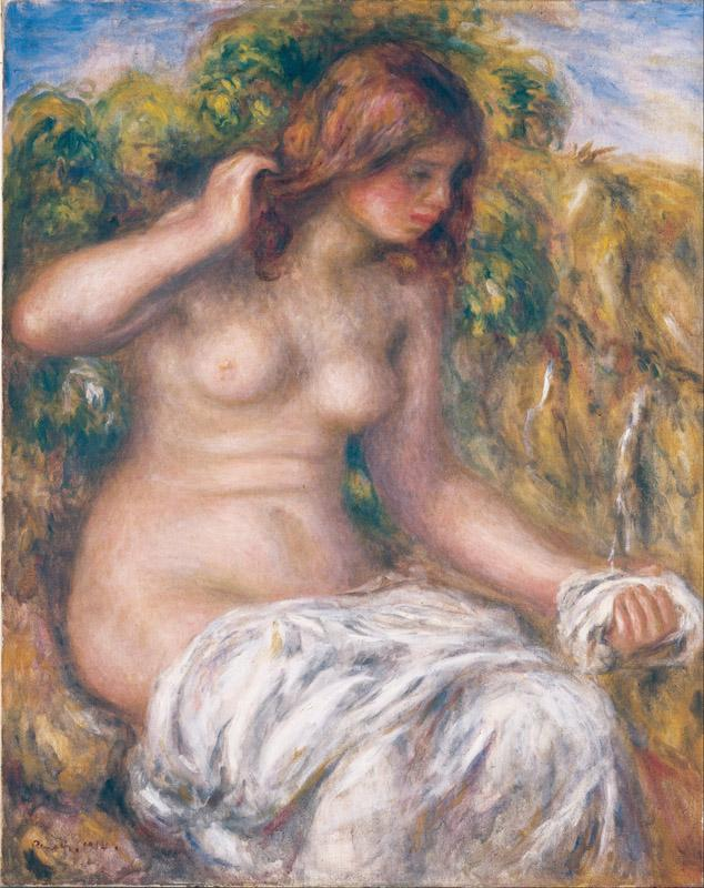 Pierre-Auguste Renoir - Woman by Spring