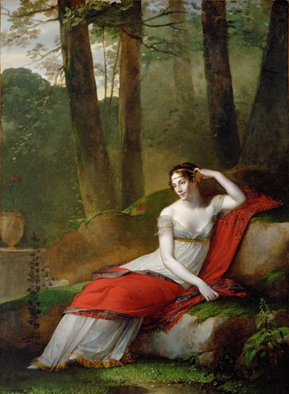 Pierre-Paul Prudhon (1758-1823) -- Empress Josephine (1763-1814) in the Gardens