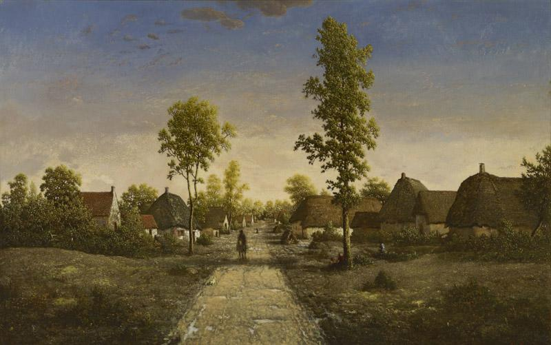 Pierre-etienne-Theodore Rousseau - The Village of Becquigny, c. 1857