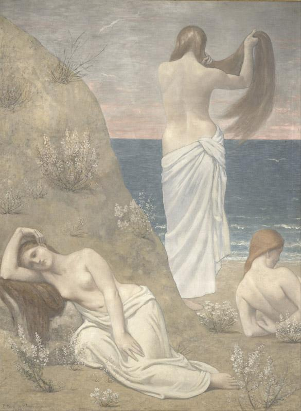 Pierre Puvis de Chavannes - Young Girls by the Seaside