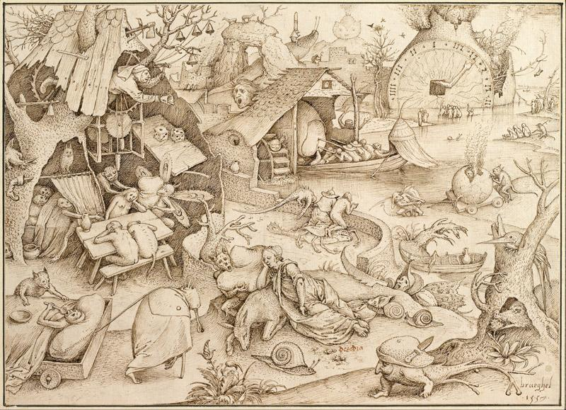 Pieter Brueghel the Elder (1526-1530-1569)-Desidia (Sloth), 1557