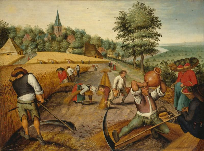 Pieter Brueghel the Younger, (Former Attr) Pieter Brueghel the Elder - Summer Harvest, ca. 1615-1