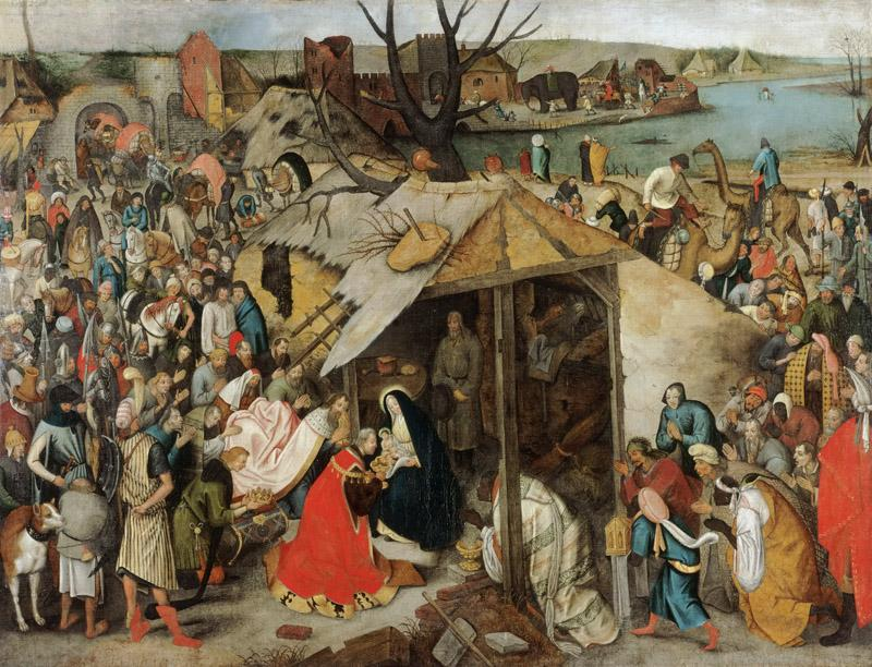 Pieter Brueghel the Younger, Flemish (active Antwerp), 1564-1637-38 -- The Adoration of the Magi