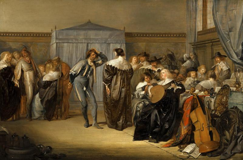 Pieter Codde - Merry Company with Masked Dancers