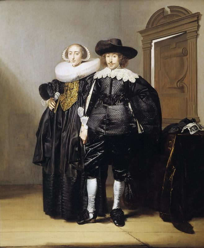 Pieter Codde - Portrait of a Betrothed Couple