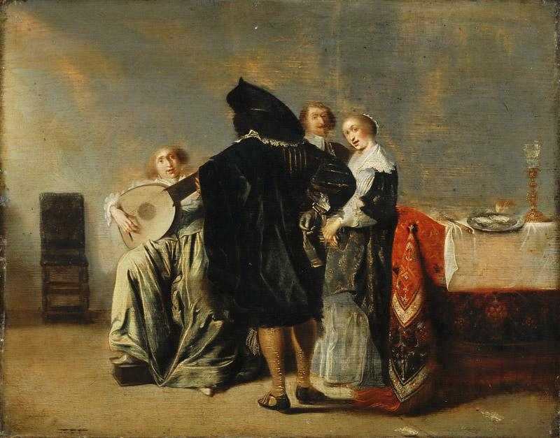 Pieter Codde, Dutch (active Amsterdam), 1599-1678 -- The Lute Player