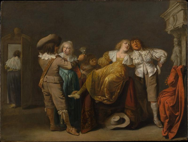 Pieter Jansz Quast--A Party of Merrymakers