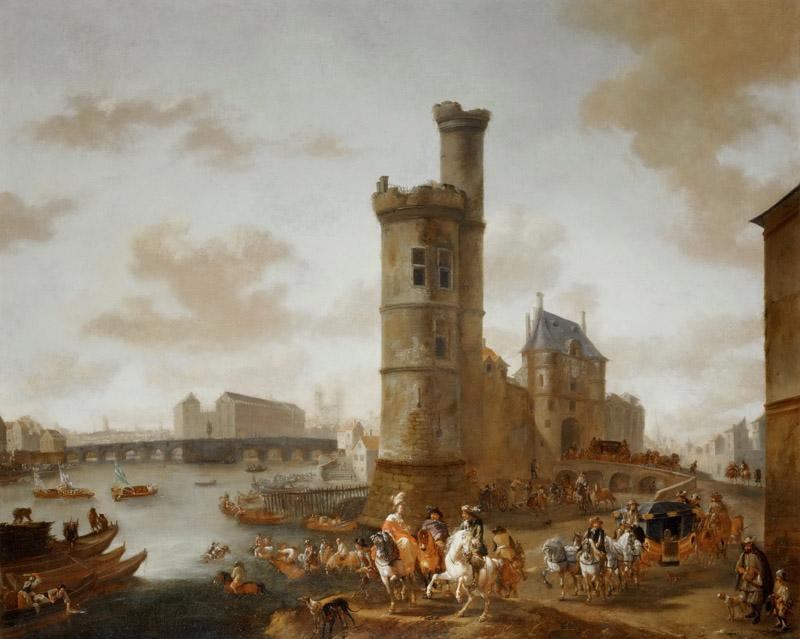 Pieter Wouwerman -- The Tower and the Porte de Nesle in Paris