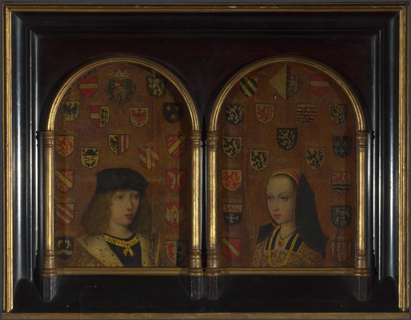 Pieter van Coninxloo - Diptych - Philip the Handsome and Margaret of Austria