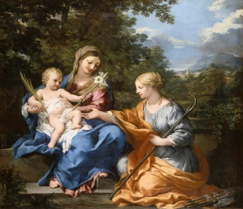 Pietro da Cortona -- The Virgin and Child with St