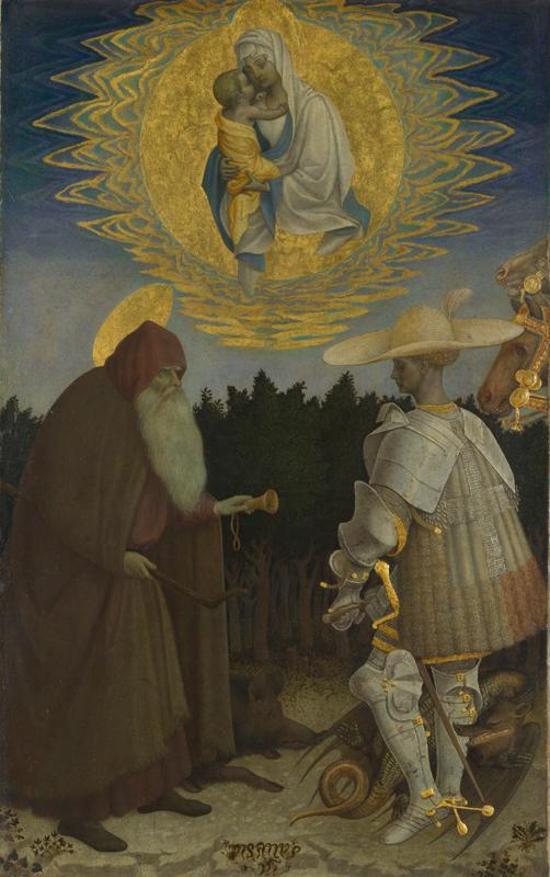 Pisanello - The Virgin and Child with Saints