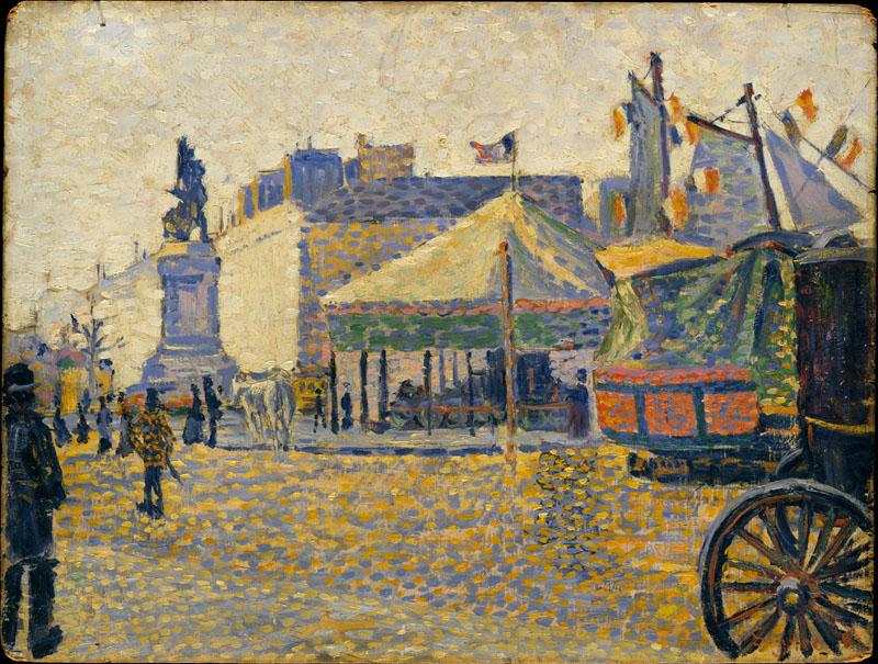 Place de Clichy-Paul Signac (French, Paris 1863-1935 Paris)