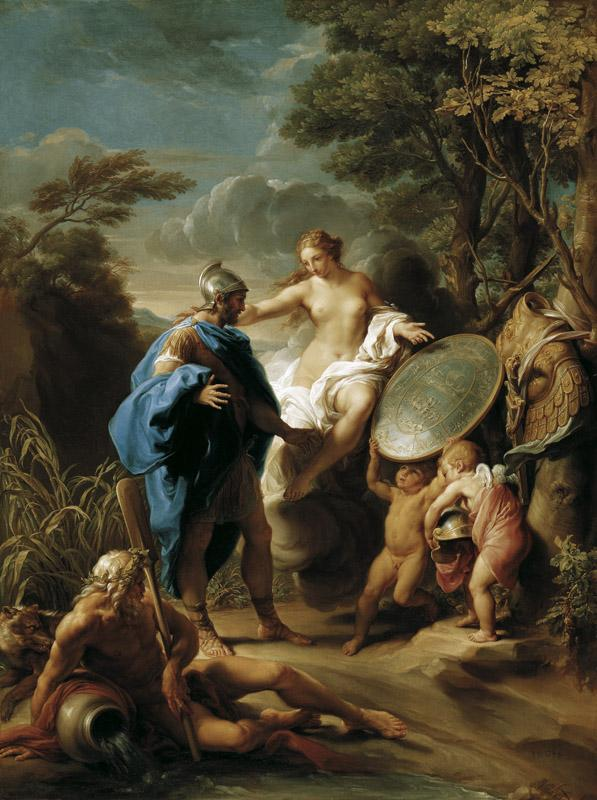 Pompeo Girolamo Batoni - Venus Presenting Aeneas with Armour Forged by Vulcan, 1748