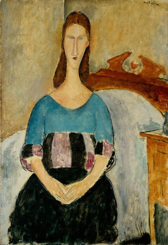 Portrait of Jeanne Hebuterne, Seated, 1918